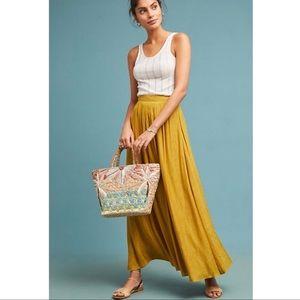 Anthropologie Akemi + Kin Yellow Paros Maxi Skirt